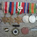 Marguerite's medals with Crete force badge on her ...