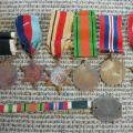captain hayward's campaign medals and well worn ID...